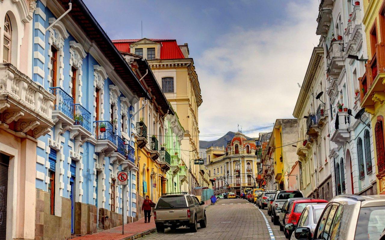 Ville de Quito en Equateur