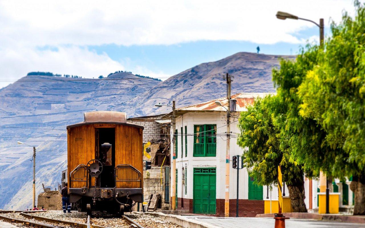 Train a Riobamba en Equateur