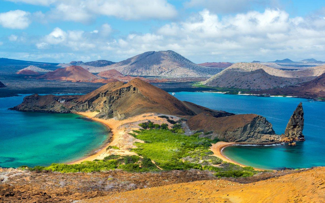 Vue depuis l'île de Bartolomé - voyage galapagos