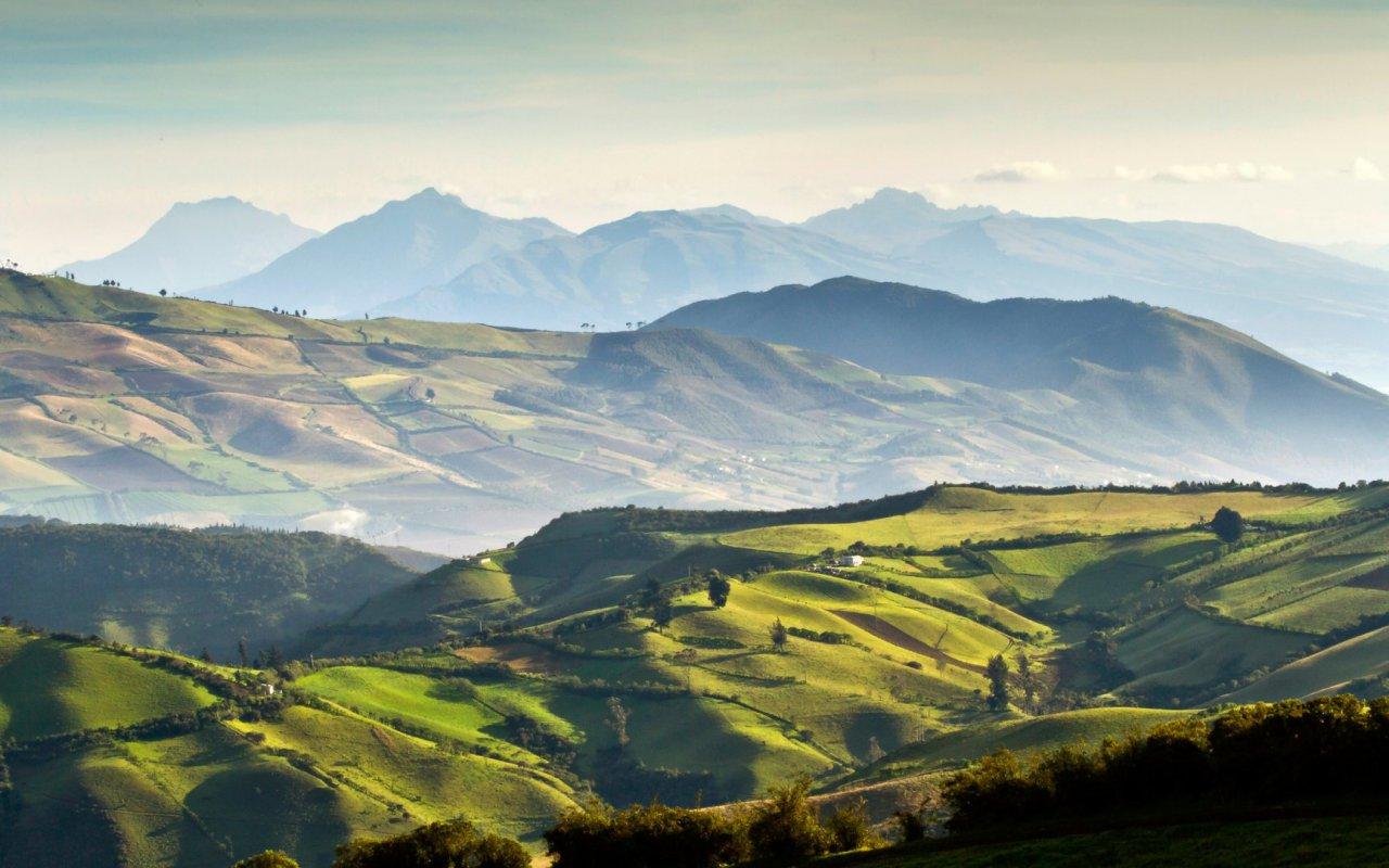 Paysages des Andes et de la Sierra en Équateur