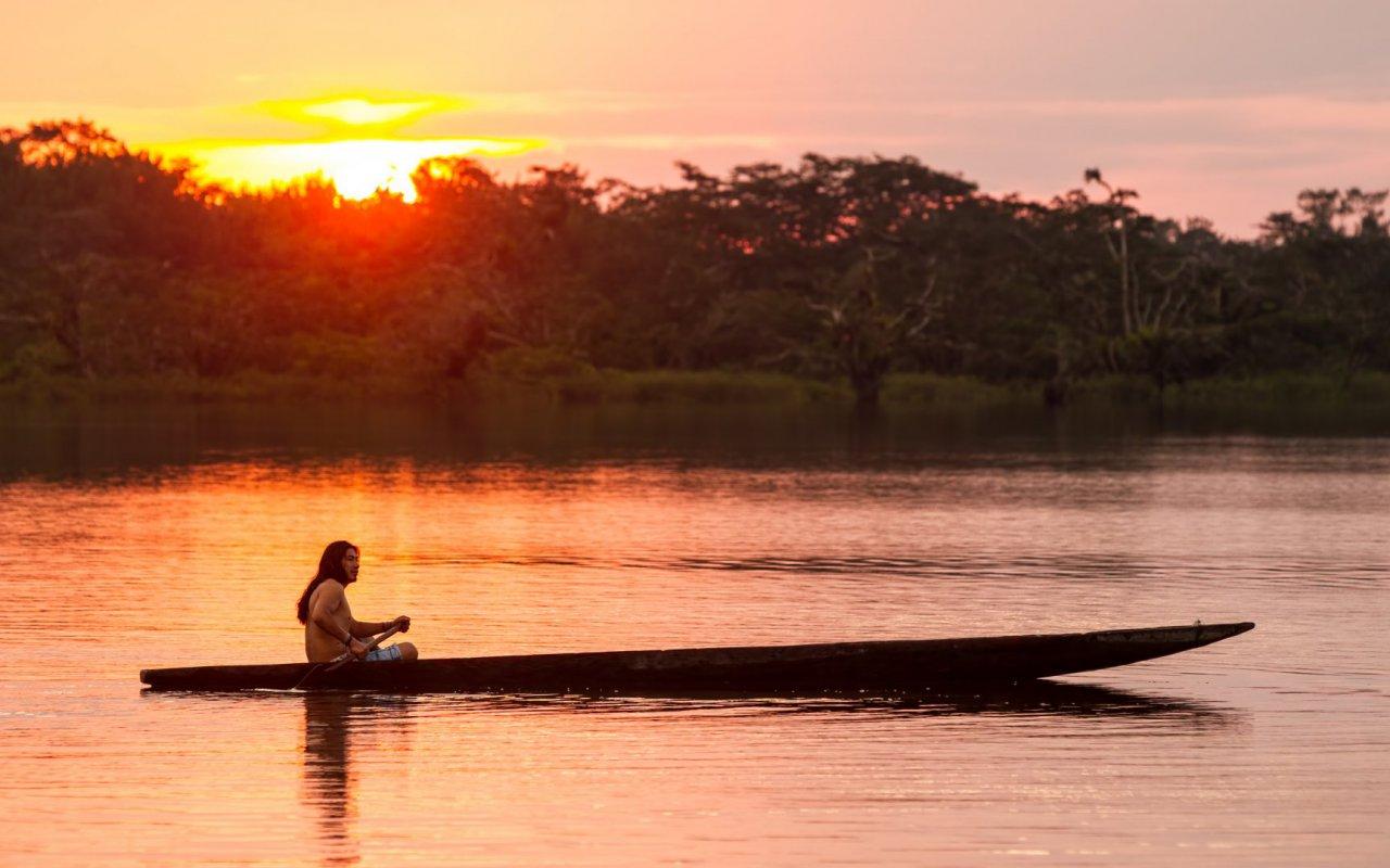 Coucher de soleil - Cuyabeno en Amazonie Équatorienne