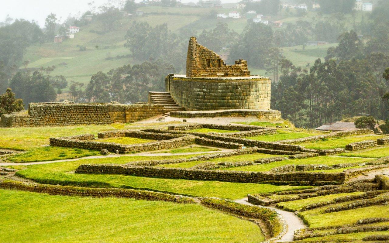 Ingapirca Inca Ruins In Ecuador