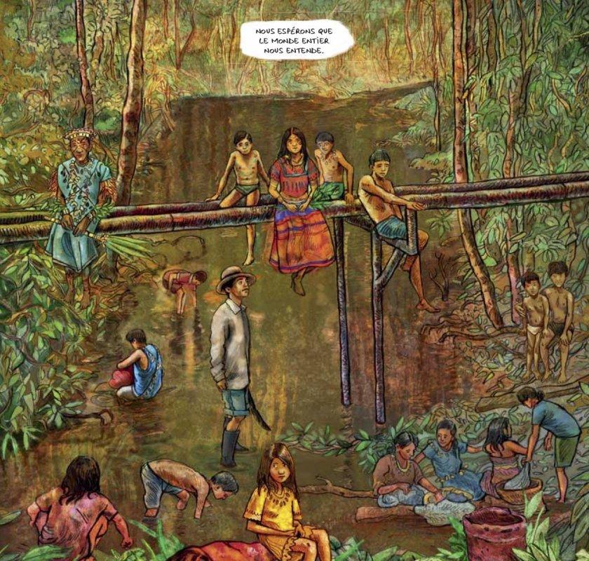 Extrait de la BD Texaco qui se déroule en Amazonie Equatorienne